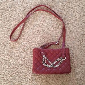 Cute Burgundy Express Crossbody Shoulder Bag